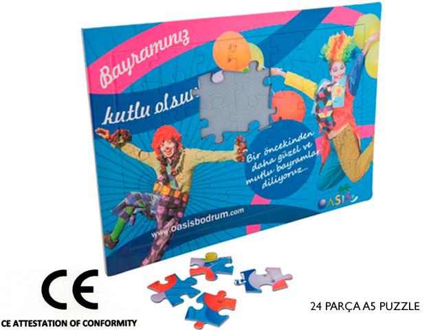 A5 Puzzle 24 Parça Yapboz