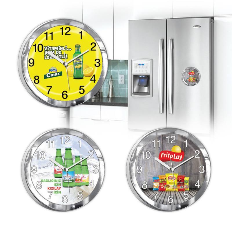 Aspat Mıknatıslı Buzdolabı Saati