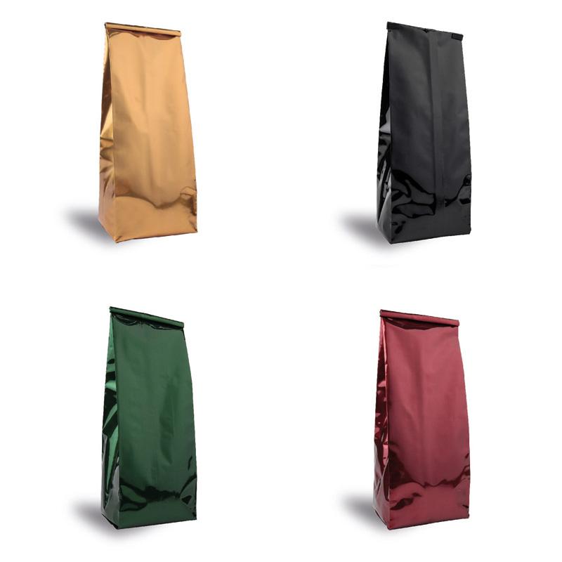 Renkli Yandan Körüklü Aluminyum Torba (Siyah, Gold, Bordo, Yeşil, Beyaz)