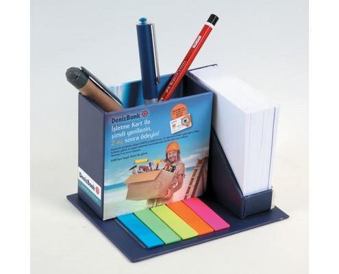 Kalemlikli ve PVC İşaretleyicili Küp Bloknot