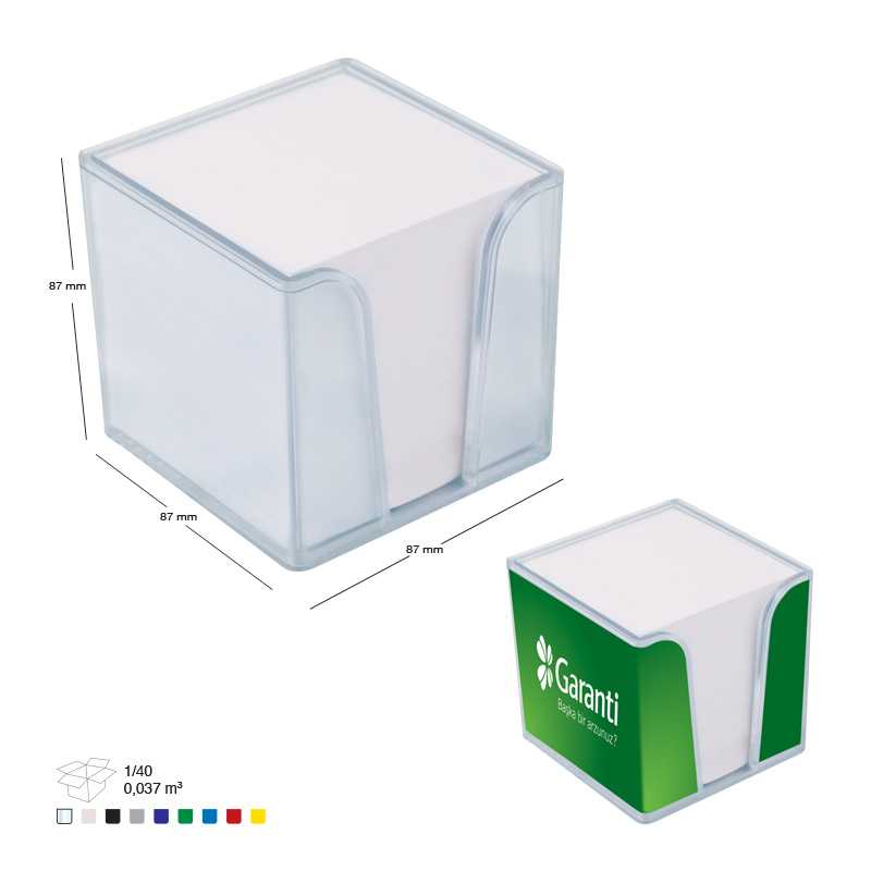 Plastik Küp Notluk 2'li + Kağıt