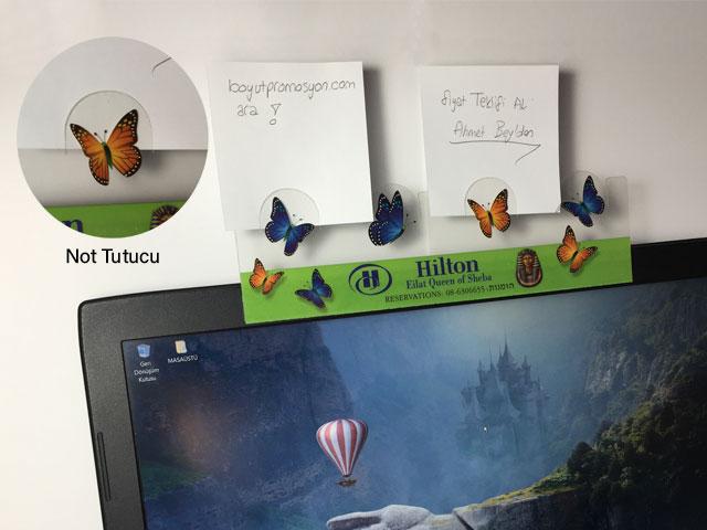 Ekran Kenarı PVC Not Tutucu