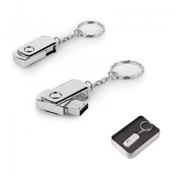 8 GB Döner Kapaklı Metal Anahtarlık USB Bellek