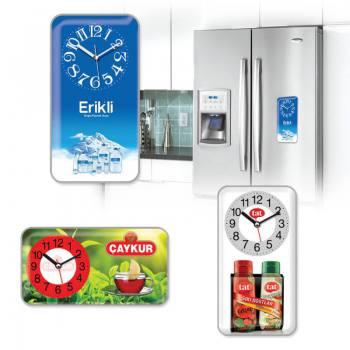 Açelya Mıknatıslı Buzdolabı Saati