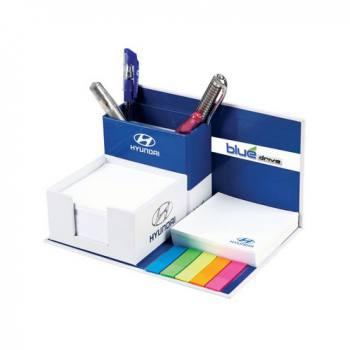 Kapaklı Kalemlikli ve PVC İşaretleyicili Küp Bloknot Seti