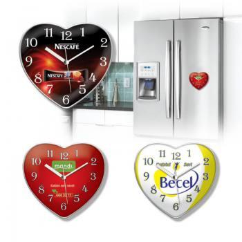 Kalp Mıknatıslı Buzdolabı Saati
