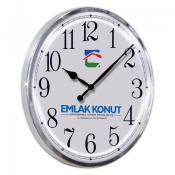 Fora Duvar Saati M (Metal Krom Çerçeve - Bombeli Cam)