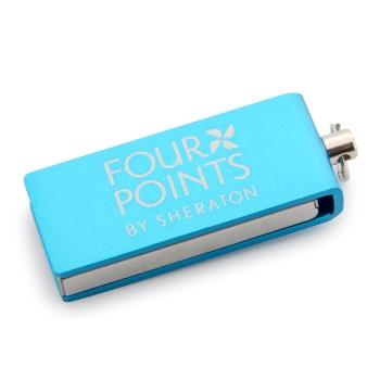 Metal Döner Kapaklı Mini USB Bellek (16 GB)
