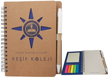 Özel Kesim Kapaklı - Post-it li Bloknot