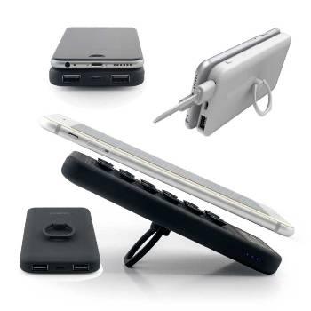 Vantuzlu ve Yüzüklü Mobil Şarj Cihazı