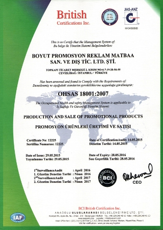 ohsas18001:2007 is sagligi guvenligi
